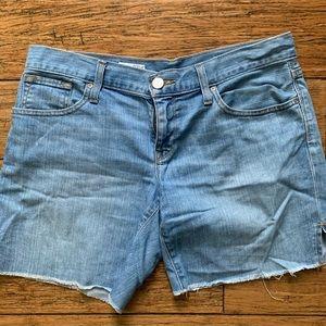 Light Medium Wash Blue Denim Jean Shorts